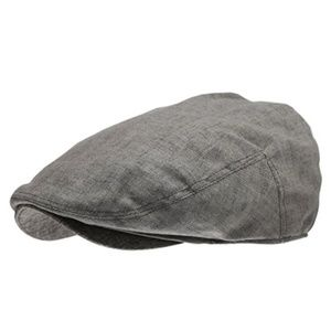 Other - Men's Linen Gray Newsboy Hat
